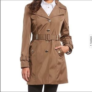 Calvin Klein Trench Jacket Hood Hooded Truffle